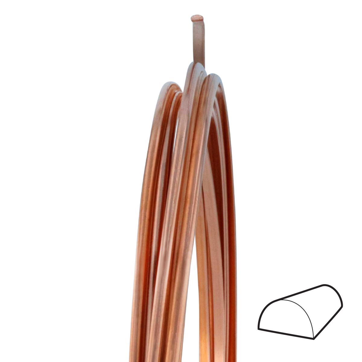 12 Gauge Half Round Dead Soft Copper Wire: Wire Jewelry | Wire Wrap ...
