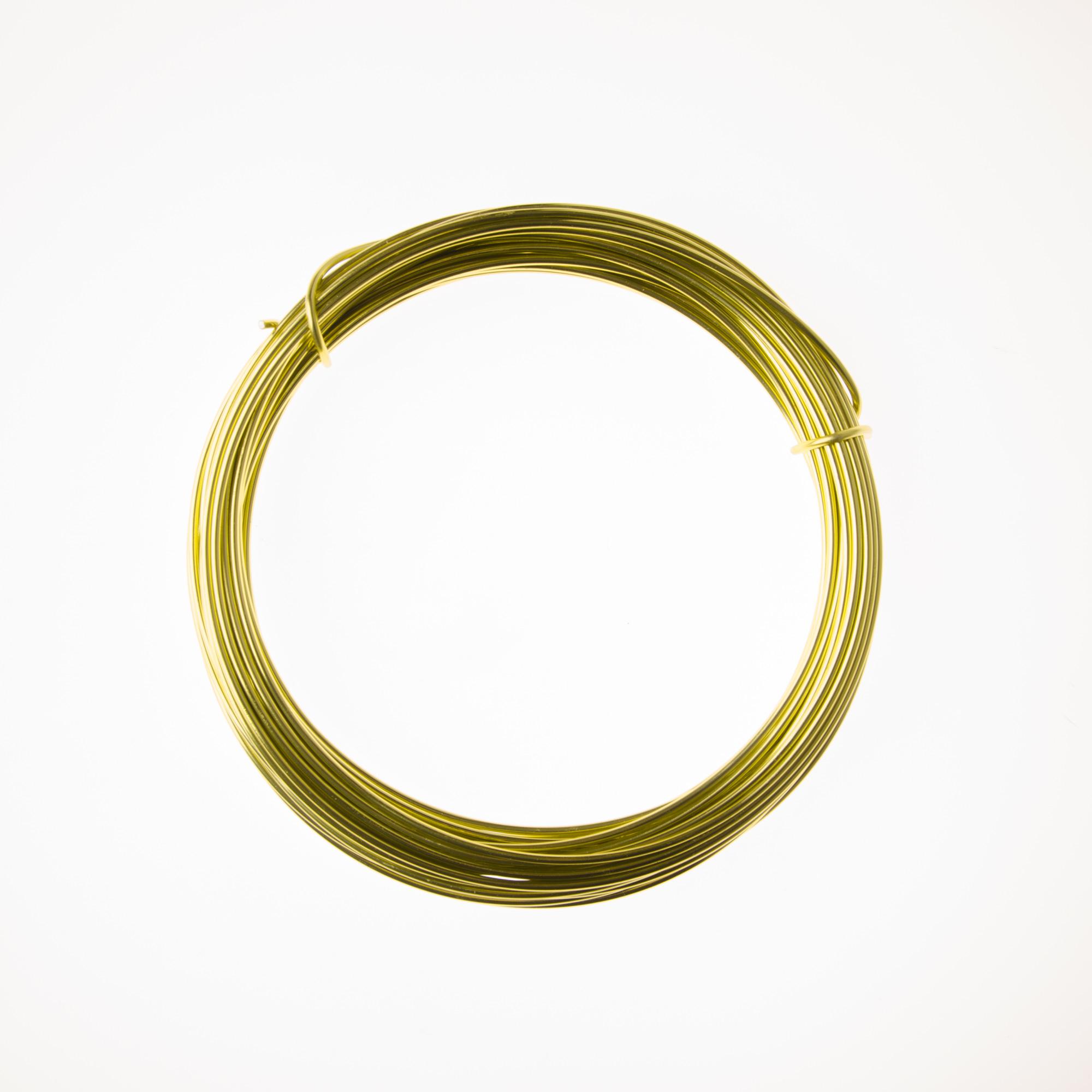 12 Gauge Peridot Anodized Aluminum Wire - 39ft: Wire Jewelry | Wire ...