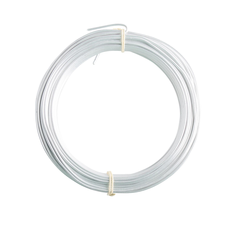 16 Gauge Matte Silver Enameled Aluminum Wire - 100FT: Wire Jewelry ...