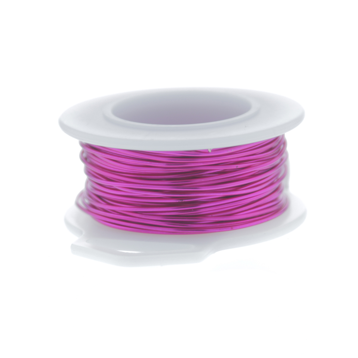 26 Gauge Round Silver Plated Fuchsia Copper Craft Wire - 90 ft