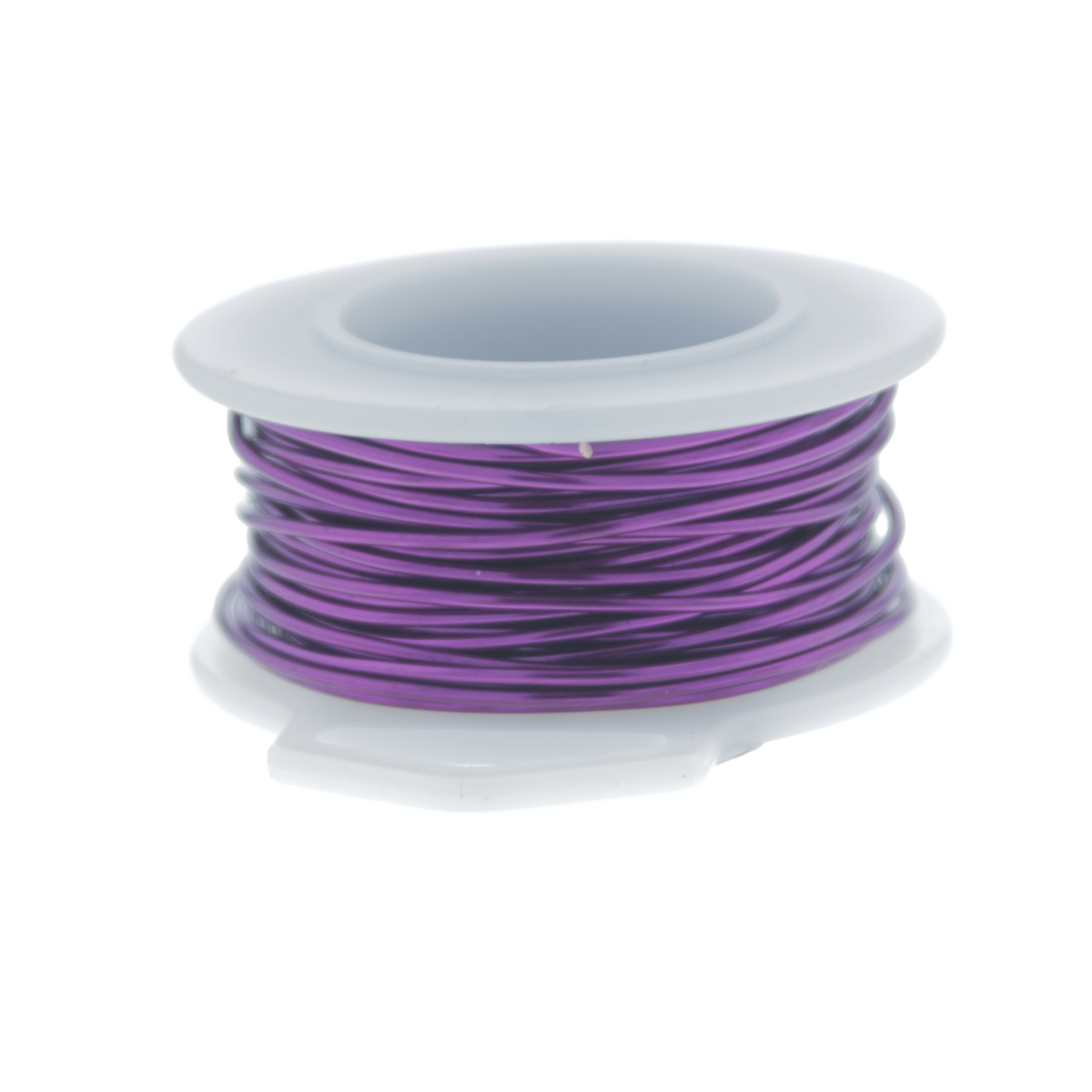 22 Gauge Round Silver Plated Amethyst Copper Craft Wire - 30 ft