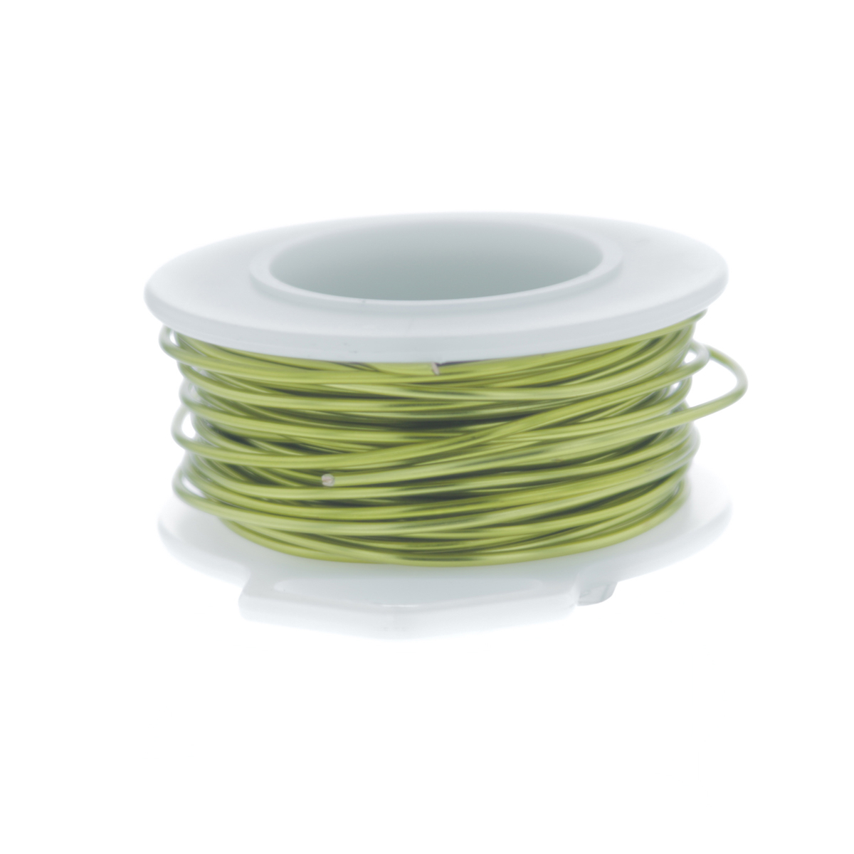 22 Gauge Round Silver Plated Peridot Copper Craft Wire - 30 ft
