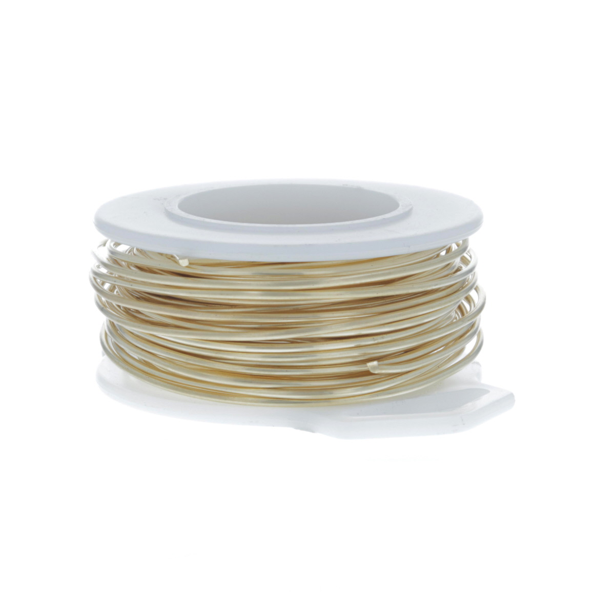 28 Gauge Round Gold Tone Brass Craft Wire - 120 ft