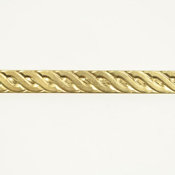 Rope Braid Red Brass Pattern Wire 3 Feet