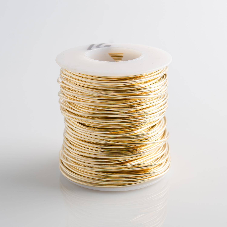 16 Gauge Round Dead Soft Red Brass Wire - 1LB