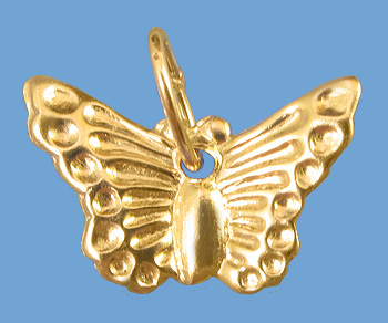 Gold Filled Charm Butterfly 7.5x12mm w/ Ring - Pack of 1