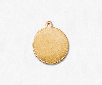 Gold Filled Charm Round Disc 10mm - Pack of 1