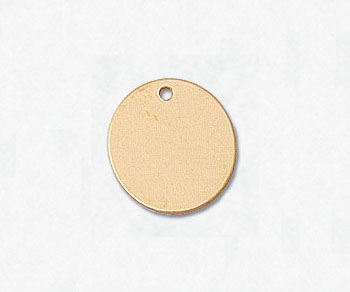 Gold Filled Charm Round Disc 11mm w/Hole - Pack of 1
