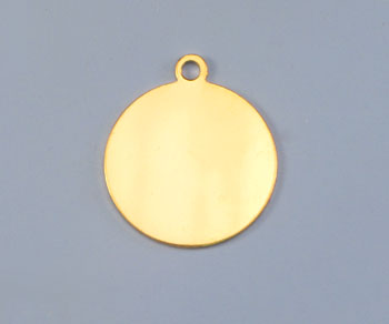 Gold Filled Charm Round Disc 15.5mm - Pack of 1