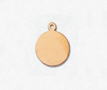 Gold Filled Charm Round Disc 9.5mm - Pack of 1
