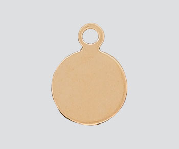 Gold Filled Charm Round Flat Disc 7.5mm - Pack of 1