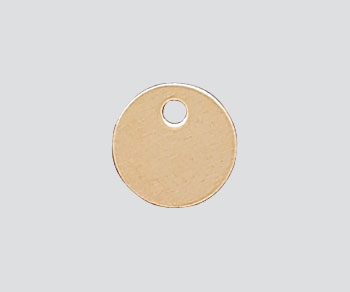 Gold Filled Charm Round Flat Disc w/Hole 6mm - Pack of 1