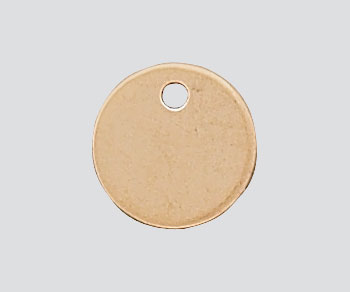 Gold Filled Charm Round Flat Disc w/Hole 7mm - Pack of 1