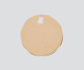 Gold Filled Charm Round Flat Disc w/Hole 9mm - Pack of 1
