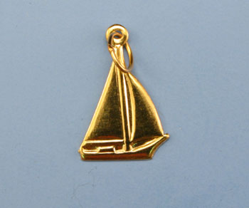 Gold Filled Charm Sail Boat 10x13mm - Pack of 1