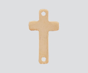 Gold Filled Charm Sideways Cross 17x9.5mm - Pack of 1