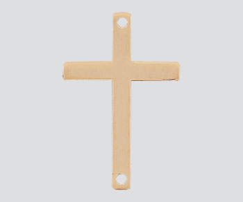 Gold Filled Charm Sideways Cross 22.5x14.5mm - Pack of 1
