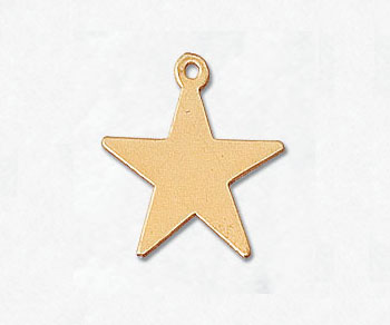 Gold Filled Charm Star 15.2mm - Pack of 1