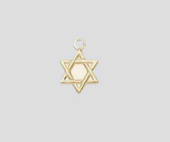 Gold Filled Charm Star of David 9mm - Pack of 1