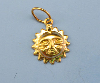 Gold Filled Charm Sun 9mm - Pack of 1