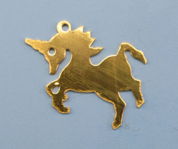 Gold Filled Charm Unicorn 14x21mm - Pack of 1