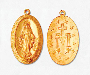 Gold Filled Charm Virgin Mary 20x13mm - Pack of 1