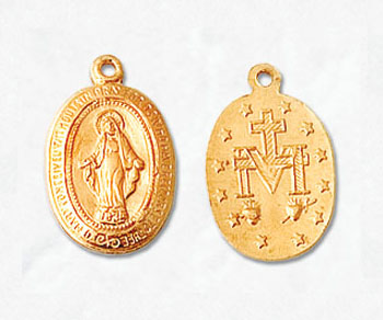 Gold Filled Charm Virgin Mary 9x12mm - Pack of 1