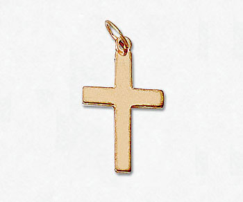 Gold Filled Charm Cross 10x16mm w/Ring - Pack of 1