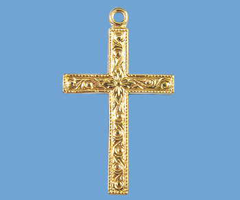 Gold Filled Charm Cross 15x25.5mm - Pack of 1