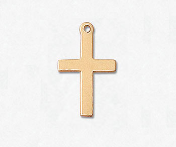 Gold Filled Charm Cross 16x10 mm - Pack of 1