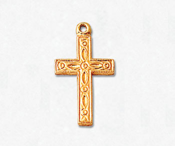 Gold Filled Charm Cross 19x10mm - Pack of 1