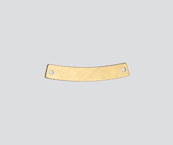Gold Filled Charm Curved 2 Hole Connector 4x25mm - Pack of 1