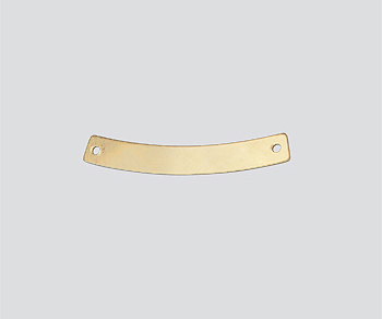 Gold Filled Charm Curved 2 Hole Connector 4x30mm - Pack of 1