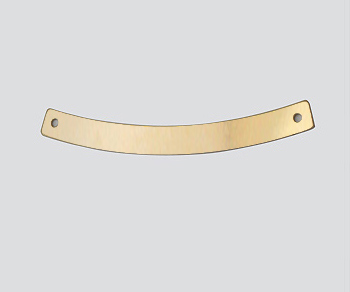 Gold Filled Charm Curved 2 Hole Connector 4x40mm - Pack of 1