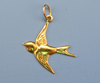 Gold Filled Charm Dove 18mm - Pack of 1