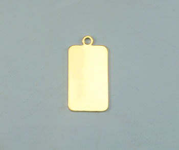 Gold Filled Charm Flat Rectangle 10.5x18mm - Pack of 1