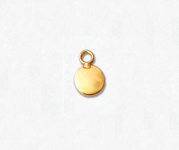 Gold Filled Charm Flat Round 5mm - Pack of 1
