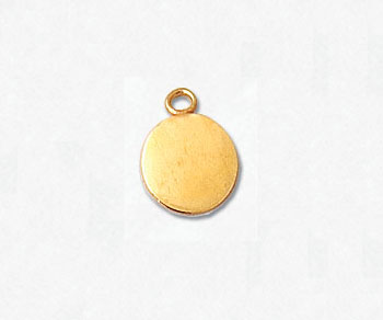 Gold Filled Charm Flat Round 7mm - Pack of 1