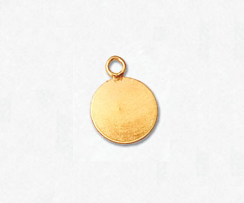 Gold Filled Charm Flat Round 8mm - Pack of 1