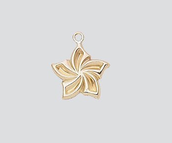 Gold Filled Charm Flower 11.5mm - Pack of 1