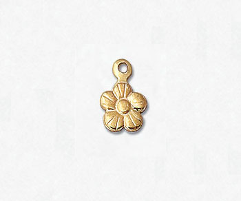 Gold Filled Charm Flower 6mm - Pack of 1