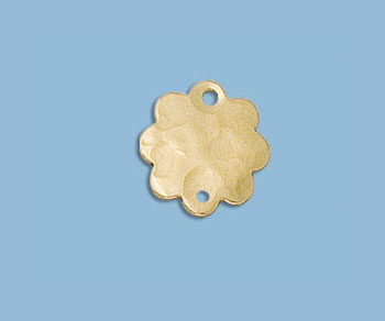 Gold Filled Charm Flower Hammered 10.5mm - Pack of 1