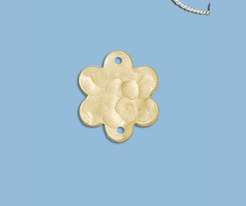 Gold Filled Charm Flower Hammered 13.5mm - Pack of 1