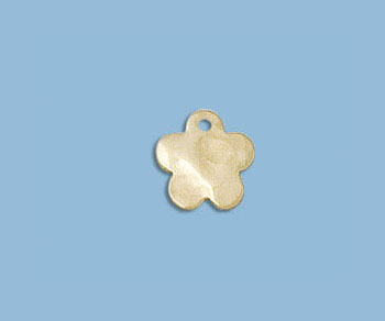 Gold Filled Charm Flower Hammered 8mm - Pack of 1