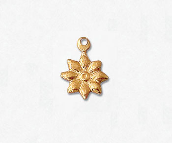 Gold Filled Charm Flower Stamp 10mm - Pack of 1