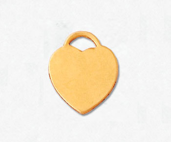 Gold Filled Charm Heart 11x12mm - Pack of 1
