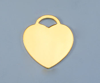 Gold Filled Charm Heart 22x24mm - Pack of 1