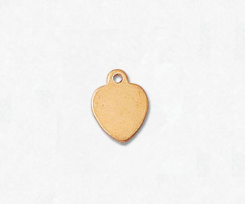 Gold Filled Charm Heart 7mm - Pack of 1