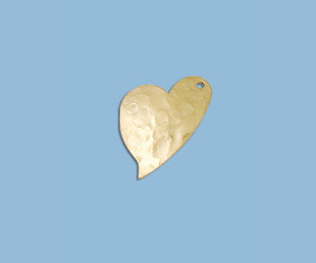 Gold Filled Charm Heart Hammered 13x9mm - Pack of 1