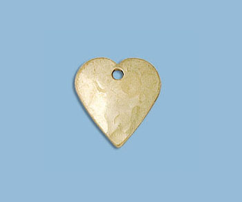 Gold Filled Charm Heart Stamped 11mm - Pack of 1